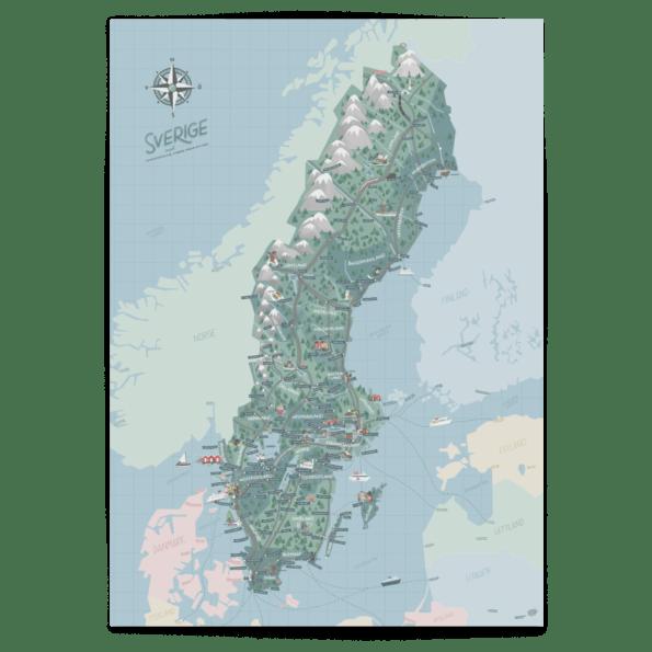 Sverigekartan - Joanna Schmidt - barnrum