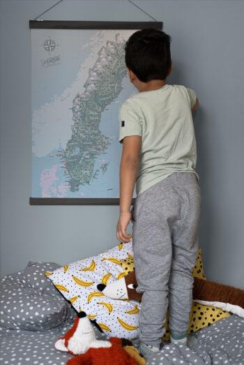 Sverigekartan - JoannaSchmidt - barnrum 50x70